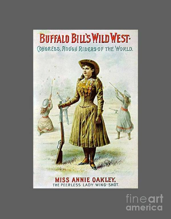 Flag Poster featuring the digital art Annie Oakley by Frederick Holiday
