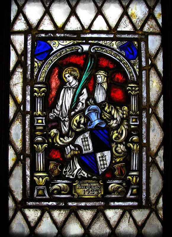 Stained Glass Poster featuring the photograph Anno Domini by Colleen Kammerer