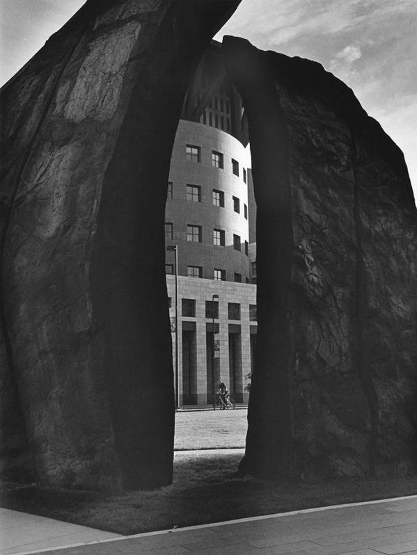 Statue Poster featuring the photograph Anthracite Eye by Jim Furrer