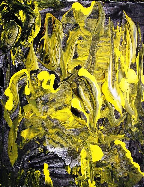 Abstract Poster featuring the painting Anxiety by Bruce Combs - REACH BEYOND