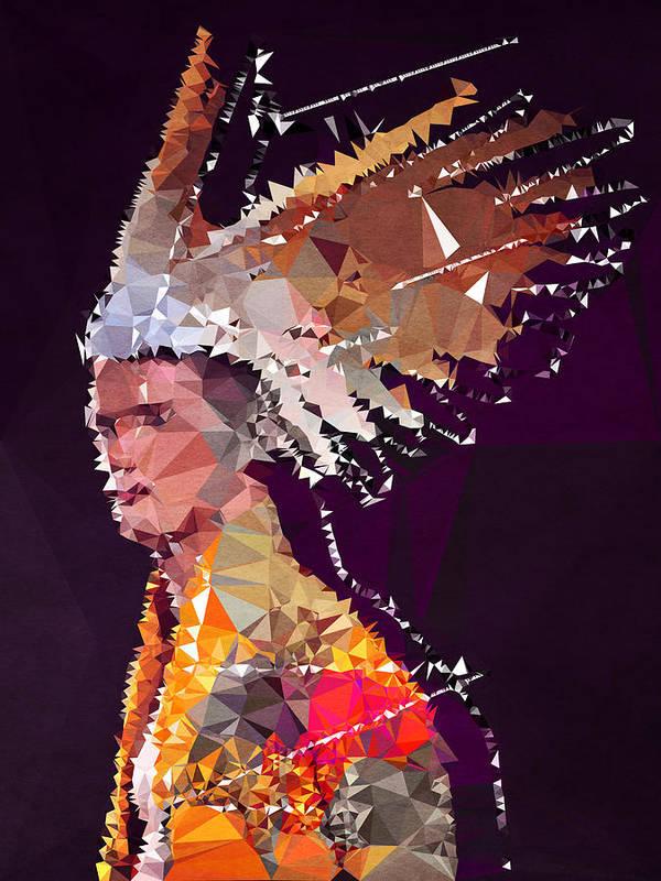 Poster featuring the digital art Apache by Boris Draschoff