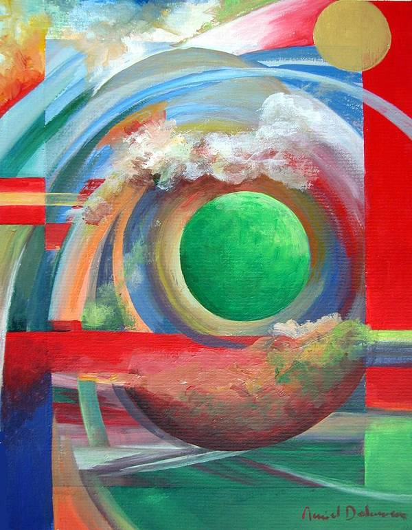 Abstract Poster featuring the painting Arc by Muriel Dolemieux