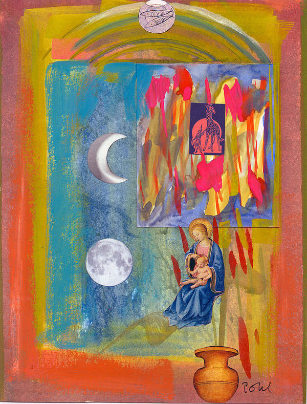 Poster featuring the mixed media Arch Of Mary by Dennis Pohl