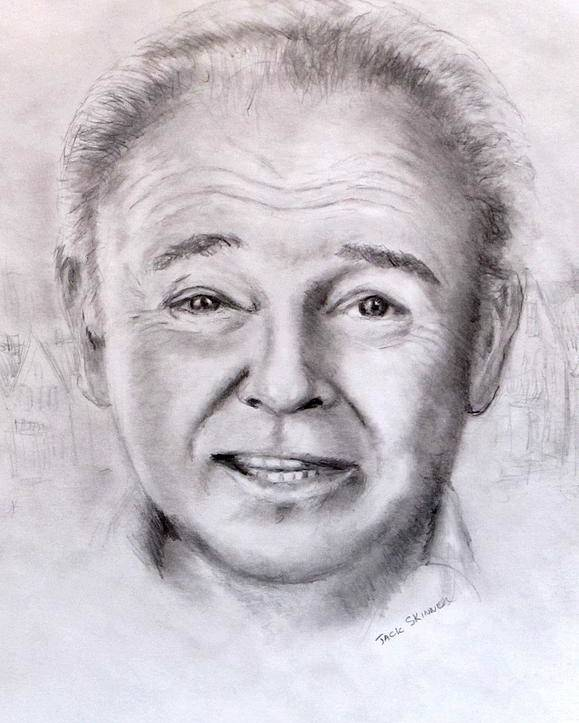 Archie Bunker Poster featuring the drawing Archie by Jack Skinner
