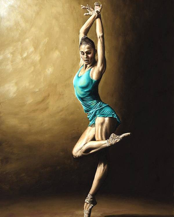 Dance Poster featuring the painting Ardent Dancer by Richard Young