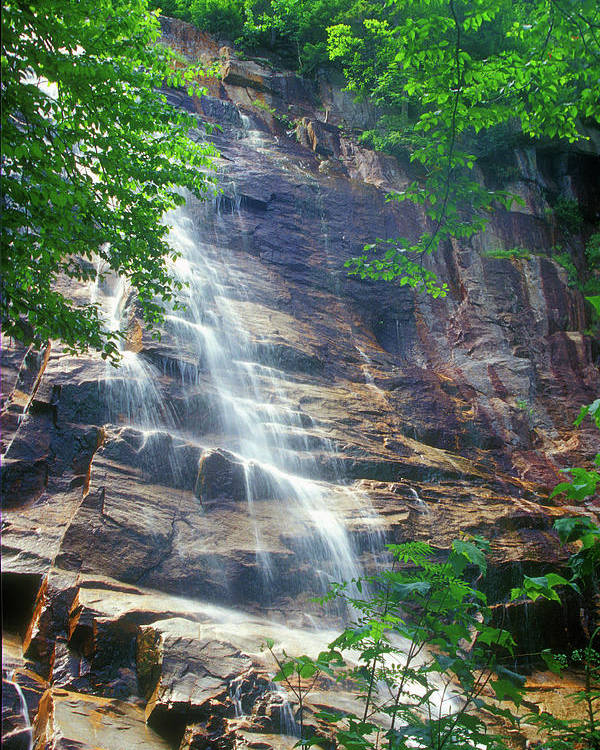 Waterfall Poster featuring the photograph Arethusa Falls by John Burk