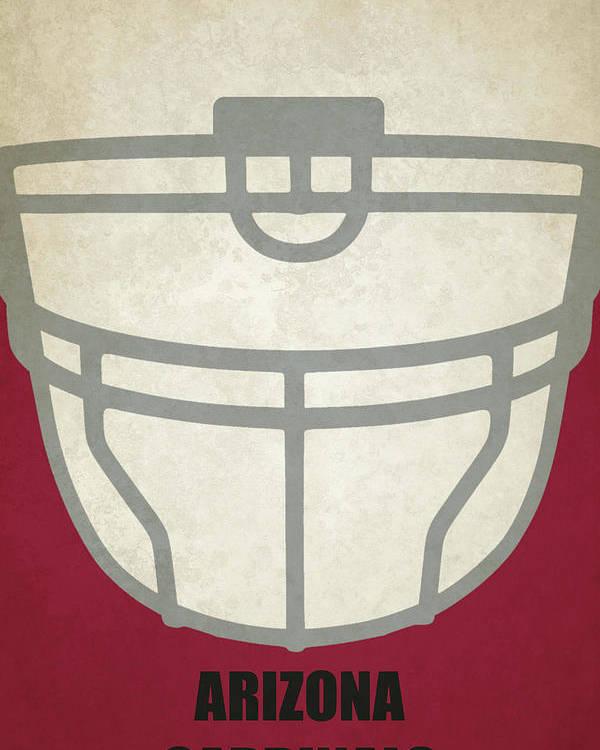 Cardinals Poster featuring the painting Arizona Cardinals Helmet Art by Joe Hamilton