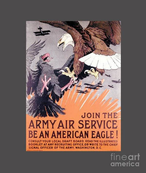 Flag Poster featuring the digital art Army Air Service by Frederick Holiday