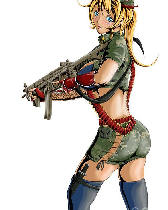 anime girl army