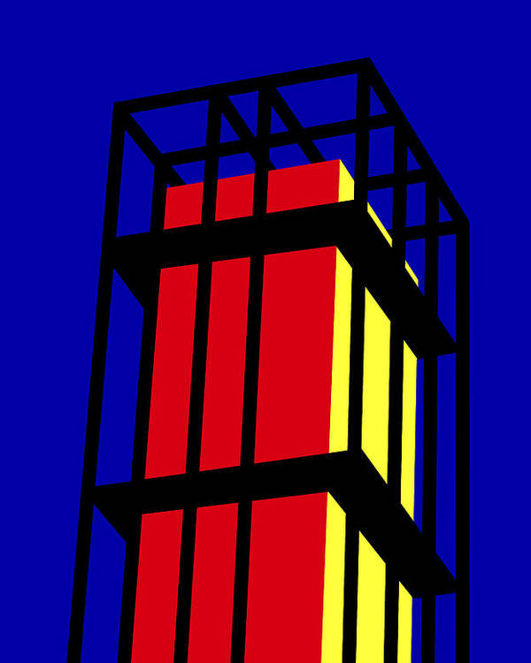 Arne Jacobseb Tower Poster featuring the digital art Arne Jacobseb Tower by Asbjorn Lonvig