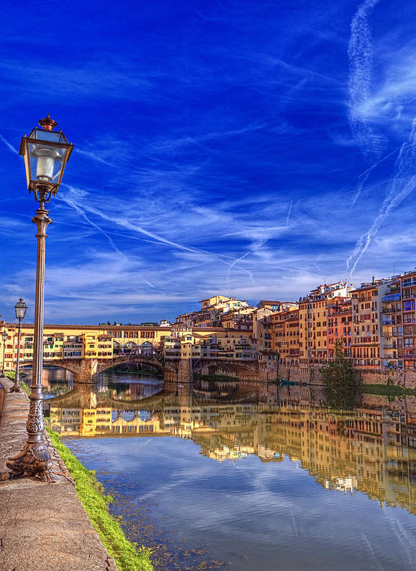 Arno Poster featuring the photograph Arno River Florence by Clint Hudson