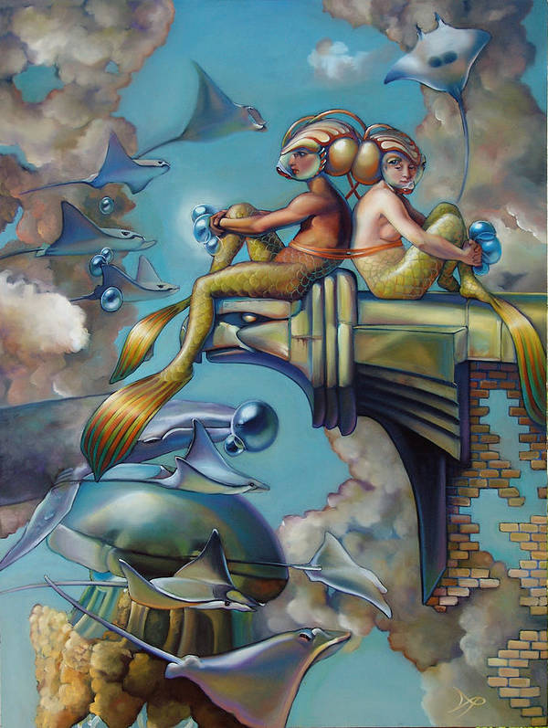 Mermaid Poster featuring the painting Array Of Hope And Change by Patrick Anthony Pierson