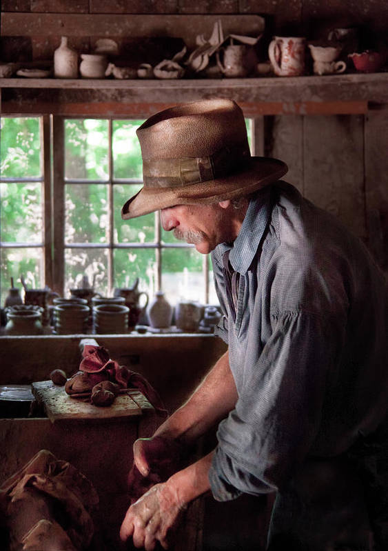 Hdr Poster featuring the photograph Artist - Potter - The Potter IIi by Mike Savad