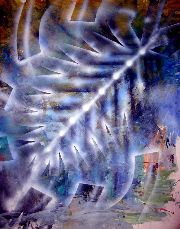 Abstract Poster featuring the painting Artleigh Vii by Leigh Odom
