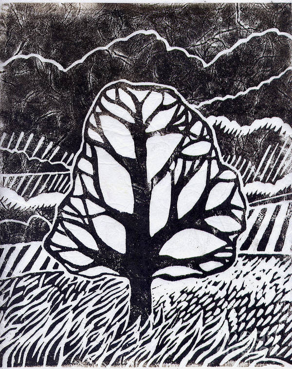 Tree Poster featuring the painting Ash Tree by Becca Thorne