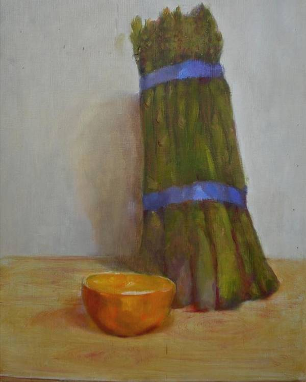 Impressionist Poster featuring the painting Asparagus  Copyrighted by Kathleen Hoekstra