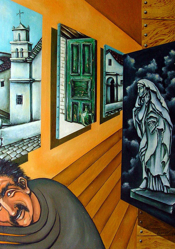 Surreal Poster featuring the painting Asylum by Valerie Vescovi