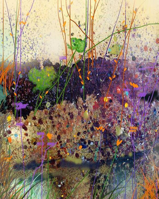 Landscape Poster featuring the digital art At The Spring by Dale Witherow