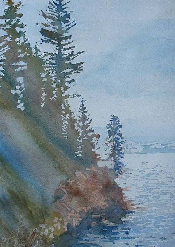 Watercolor Poster featuring the painting At The Water's Edge by Jenny Armitage