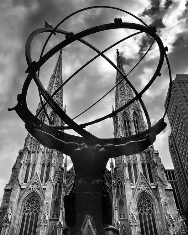 Atlas Poster featuring the photograph Atlas Holding The Heavens by Jessica Jenney