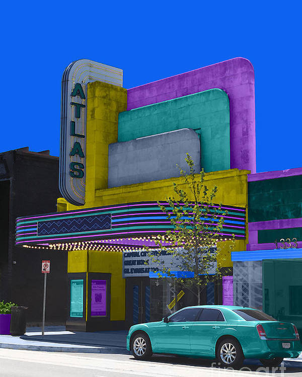 Atlas Poster featuring the photograph Atlas Theatre by Jost Houk