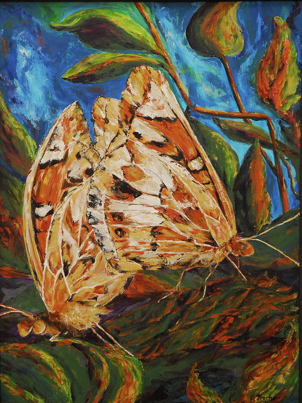 Butterfly Poster featuring the painting Attracted by Bonnie Peacher