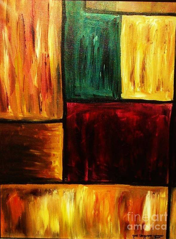 Abstract Poster featuring the painting Attractive by Yael VanGruber