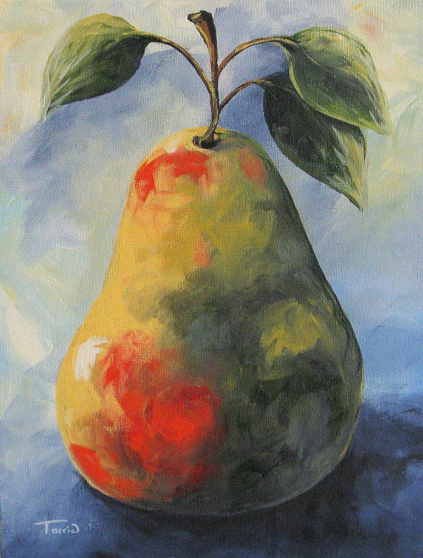Pear Poster featuring the painting August Pear by Torrie Smiley