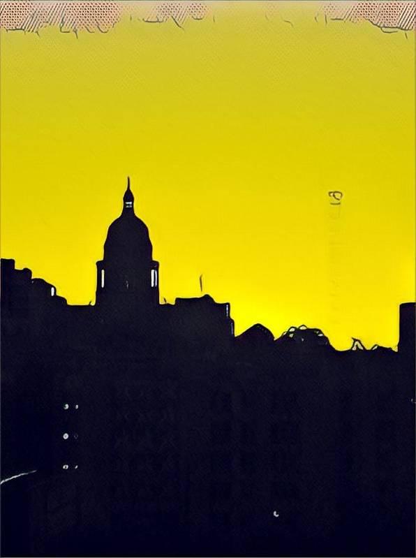 Sunrise Poster featuring the photograph Austin Capital At Sunrise by Cherylene Henderson