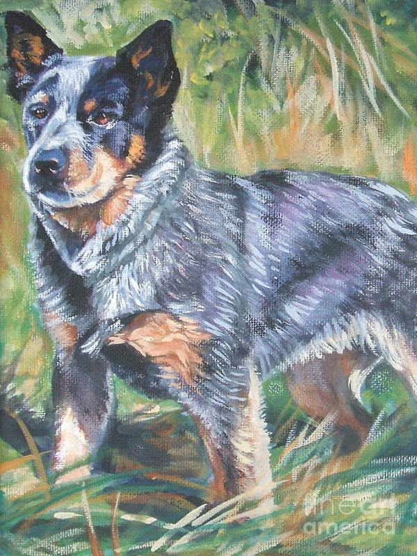 Australian Cattle Dog Poster featuring the painting Australian Cattle Dog 1 by Lee Ann Shepard