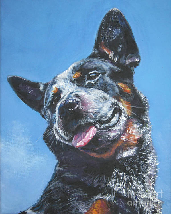 Australian Cattle Dog Poster featuring the painting Australian Cattle Dog 2 by Lee Ann Shepard