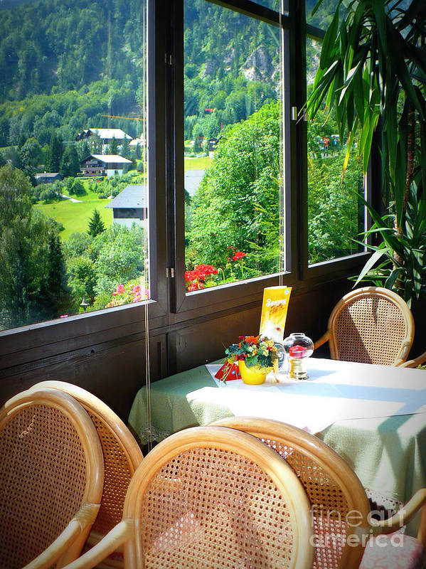Austria Poster featuring the photograph Austrian Cafe by Carol Groenen