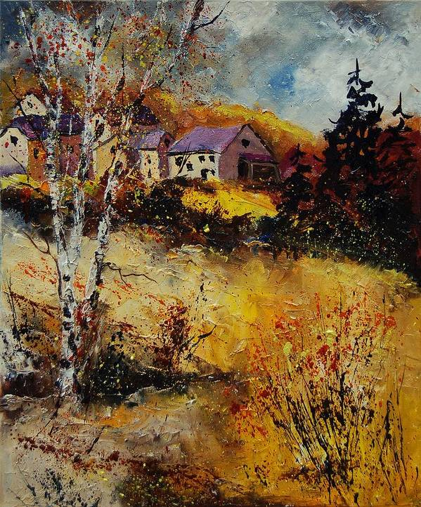 Landscape Poster featuring the painting Autumn 569021 by Pol Ledent