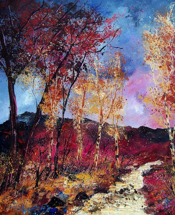 Landscape Poster featuring the painting Autumn 760808 by Pol Ledent