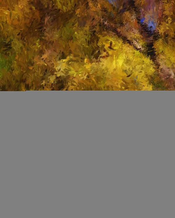 Abstract Digital Painting Poster featuring the digital art Autumn Abstract by David Lane