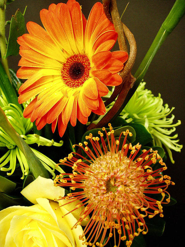 Autumn Poster featuring the photograph Autumn Flower Arrangement by Nancy Mueller