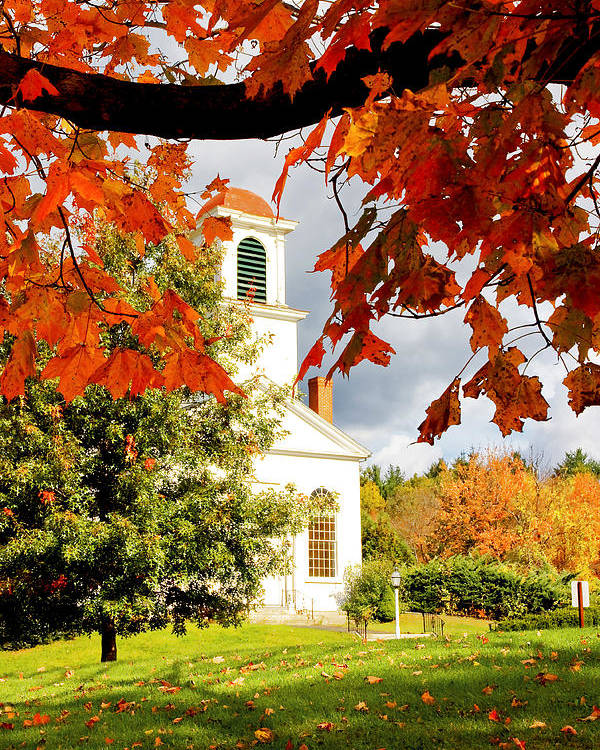 Fall Poster featuring the photograph Autumn In Gilmanton by Robert Clifford