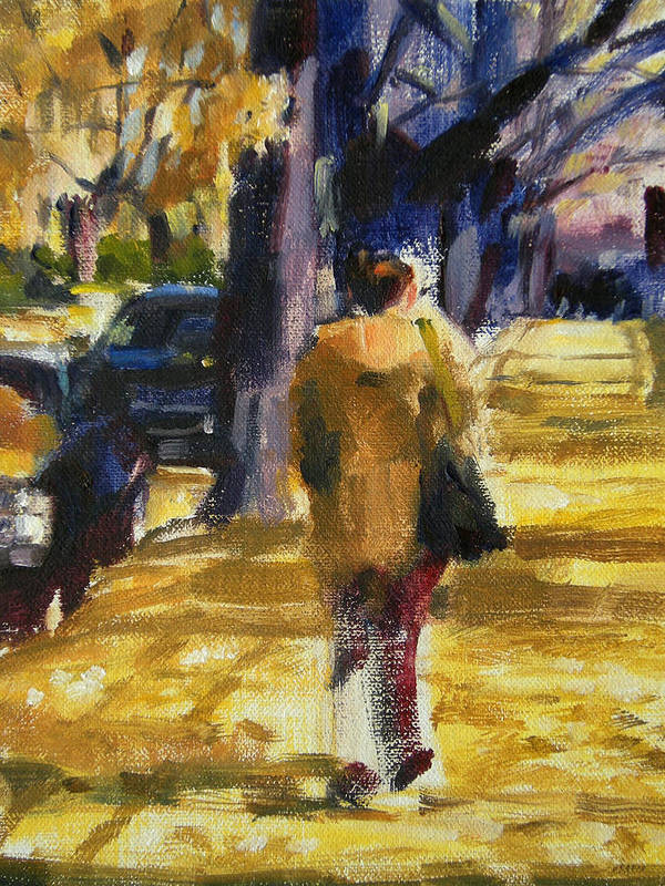 New York Poster featuring the painting Autumn In New York by Merle Keller