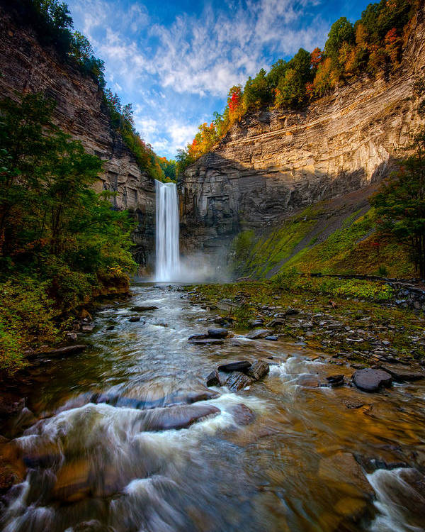 Taughannock State Park Poster featuring the photograph Autumn Riches by Neil Shapiro