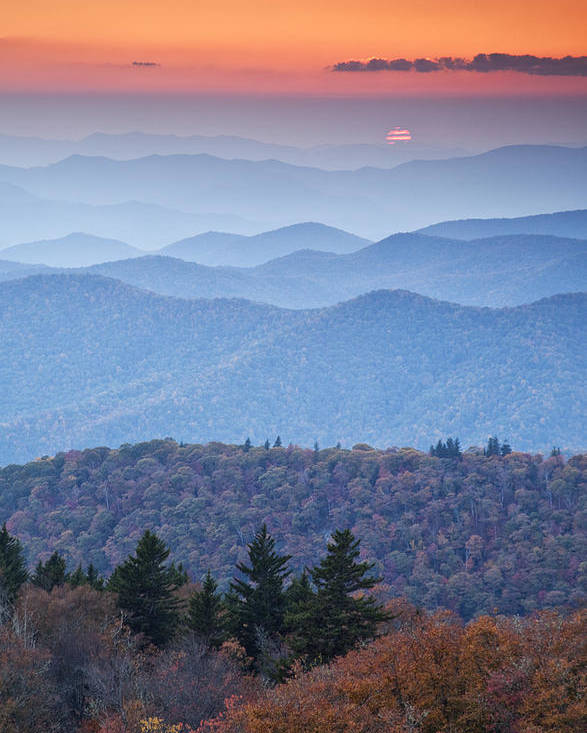 Autumn Photographs Poster featuring the photograph Autumn Sunset On The Parkway by Rob Travis