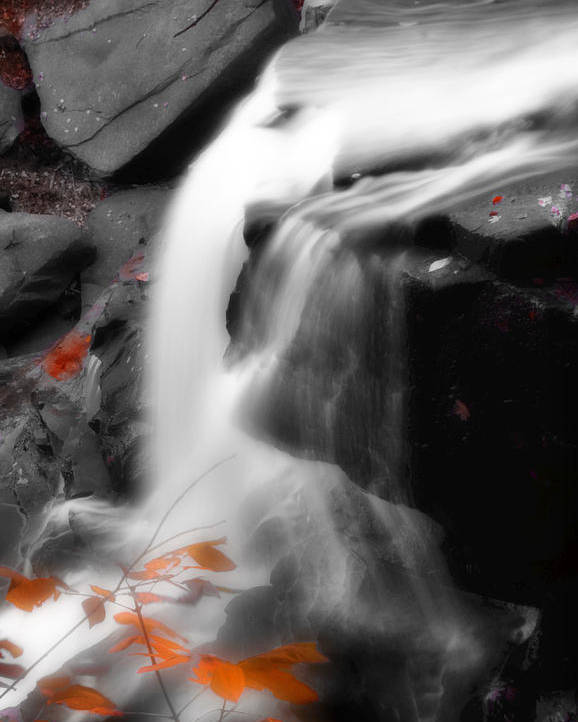Autumn Poster featuring the photograph Autumn Waterfall Iv by Kenneth Krolikowski