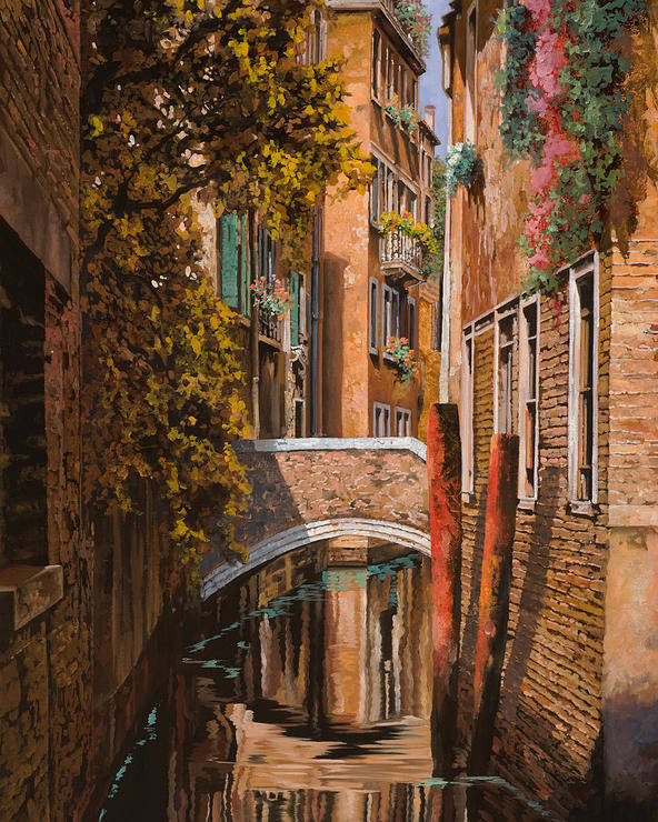 Venice Poster featuring the painting autunno a Venezia by Guido Borelli