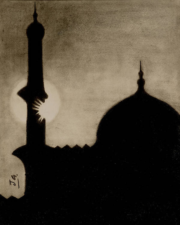 Islam Poster featuring the drawing Azaan by Jalal Gilani