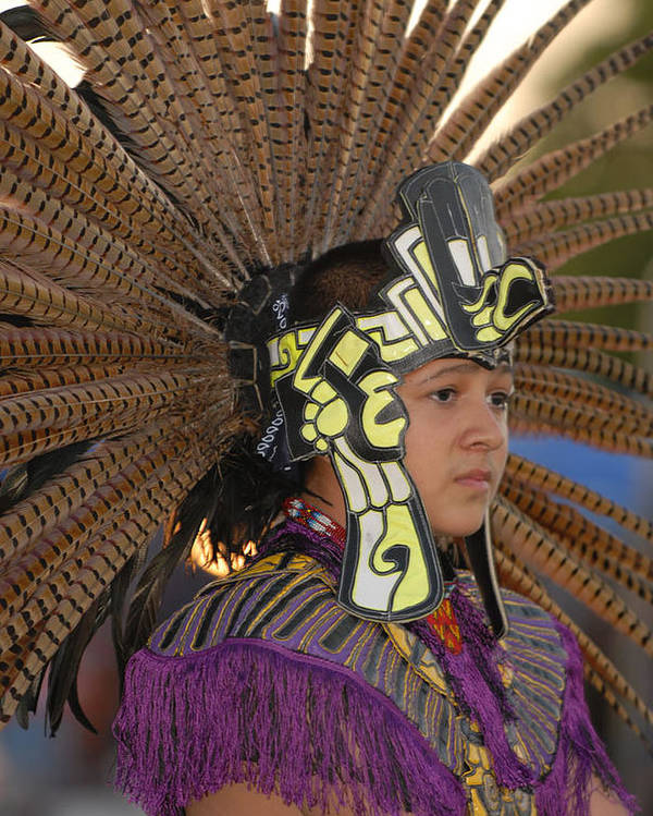 Dancer Poster featuring the photograph Aztec Dancer by Dennis Hammer
