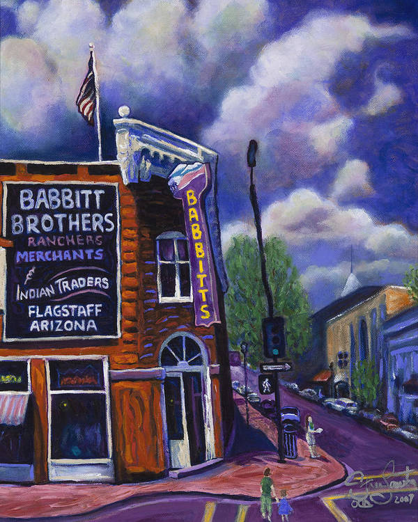 Historic Poster featuring the painting Babbitt Bldg. by Steve Lawton