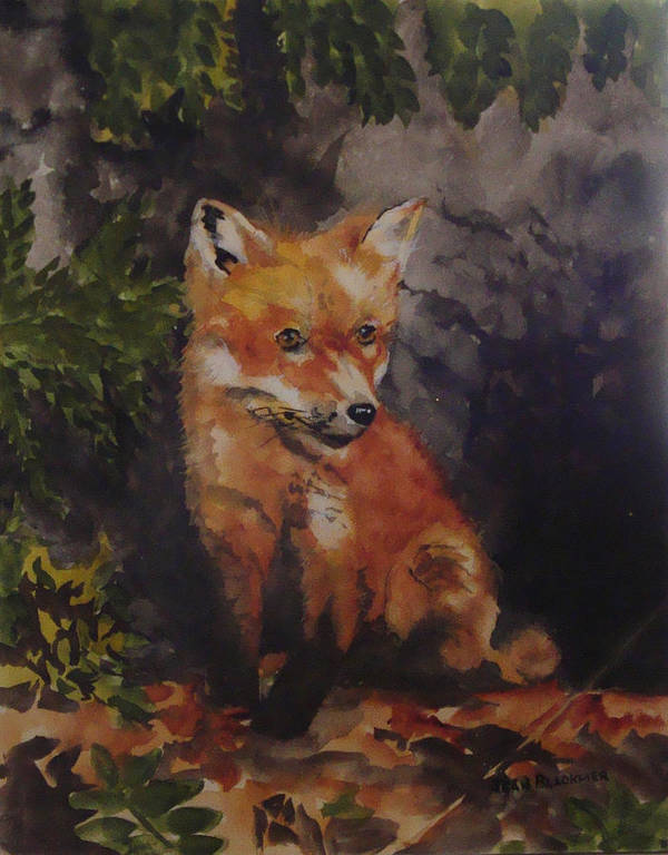 Fox Poster featuring the painting Babe In The Woods by Jean Blackmer