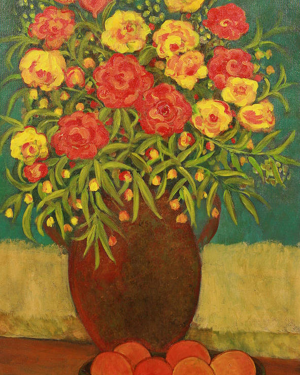 Floral Poster featuring the painting Babette's Bouquet by Susan Rinehart