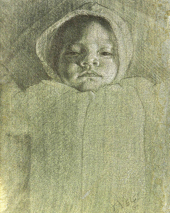 Poster featuring the painting Baby Self Portrait by Joe Velez