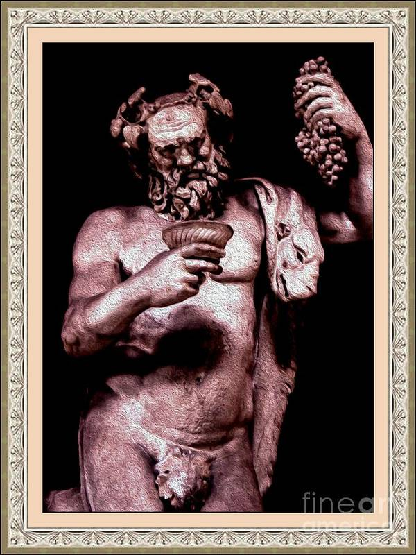 Bacchus Poster featuring the photograph Bacchus by Lali Kacharava
