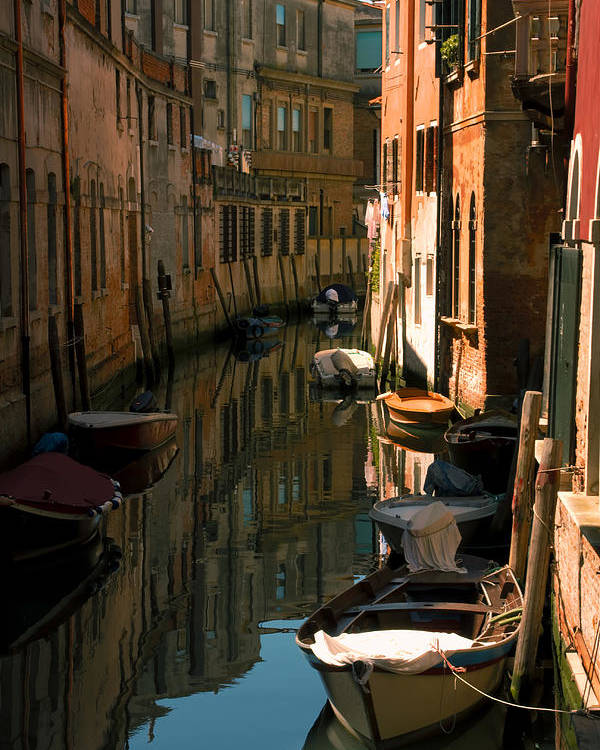 Venice Poster featuring the photograph Back Canal in Venice by Michael Henderson